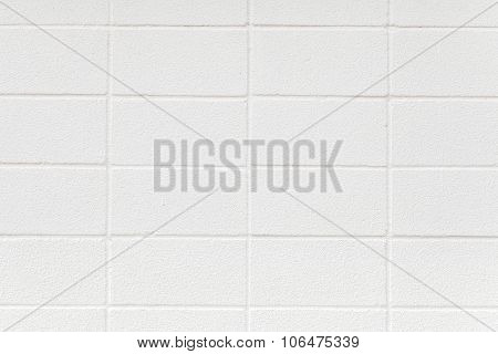 White cement block wall seamless background and texture