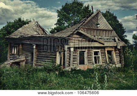 Old, Dilapidated Wooden House