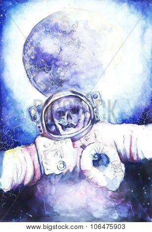 deceased astronaut in space