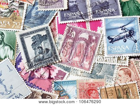 sPAIN ON STAMPS