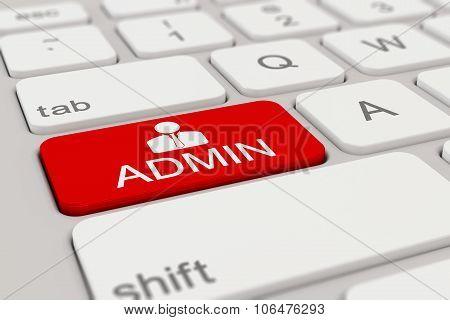 Keyboard - Admin - Red