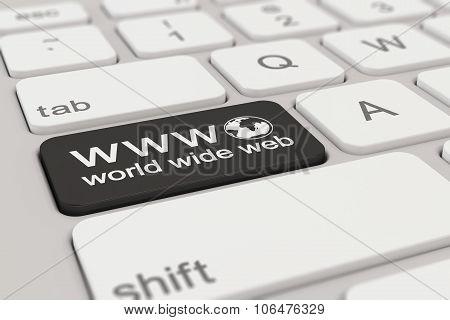 Keyboard - Www - World Wide Web - Black