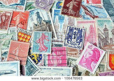 France on stamps