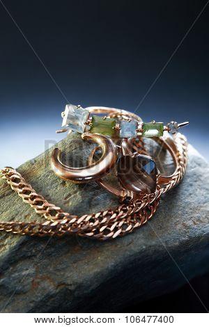 Jewelry On Stone