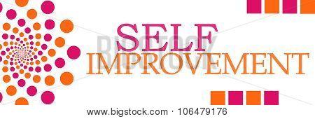 Self Improvement Pink Orange Dots Horizontal