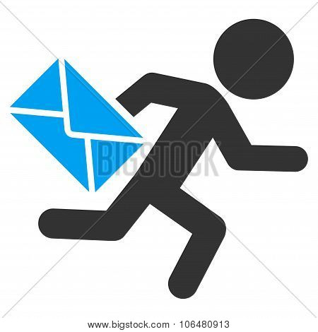 Child Mail Courier Icon