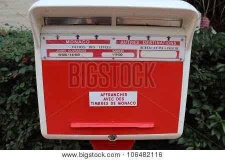 Red Monegasque Post Box
