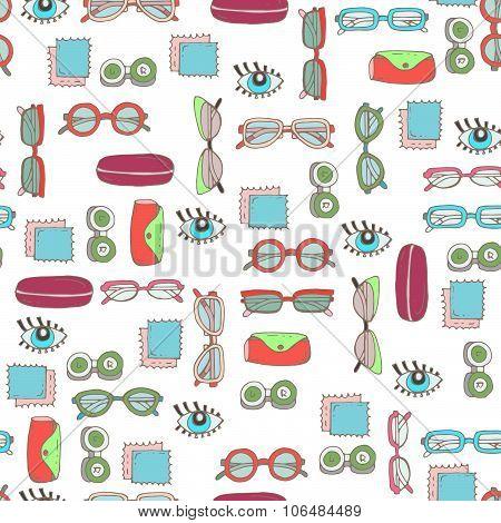 Vector pattern on the theme of optics store