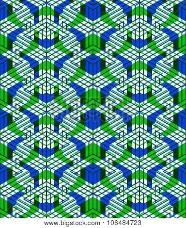 Contemporary Abstract Endless Background, Three-dimensional Repeated Pattern. Decorative