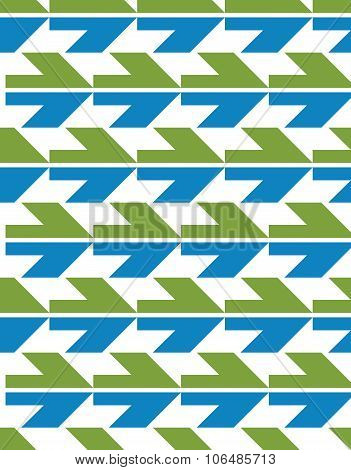 Bright Abstract Seamless Pattern With Arrows. Vector background With Arrowheads. Endless Decorative