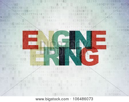 Science concept: Engineering on Digital Paper background