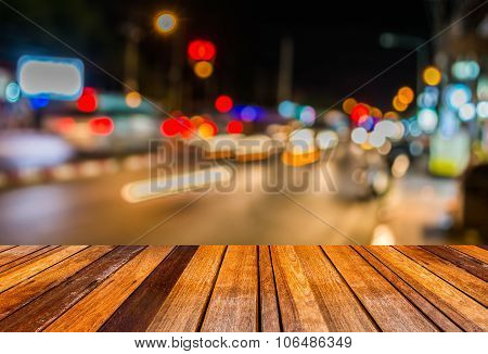 Image Of Blur Street  Bokeh Background With Warm Colorful Lights