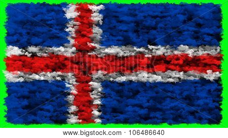 Flag of Iceland, Icelandic flag made from clouds