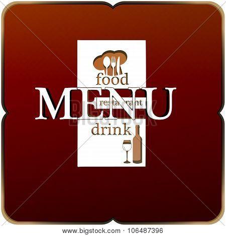 Restaurant Menu Modified Letters Uno