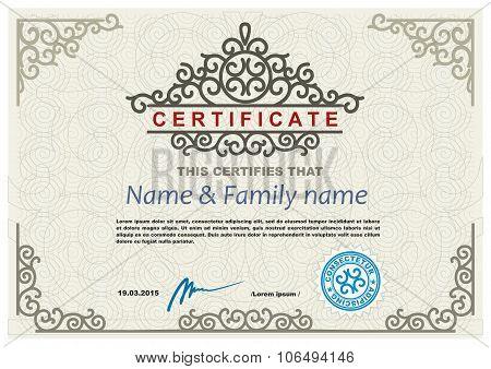 Certificate modern design template
