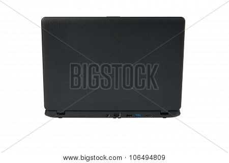 Backside Of Black Laptop