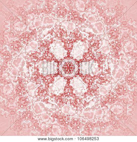 Seamless floral pattern pink shiny