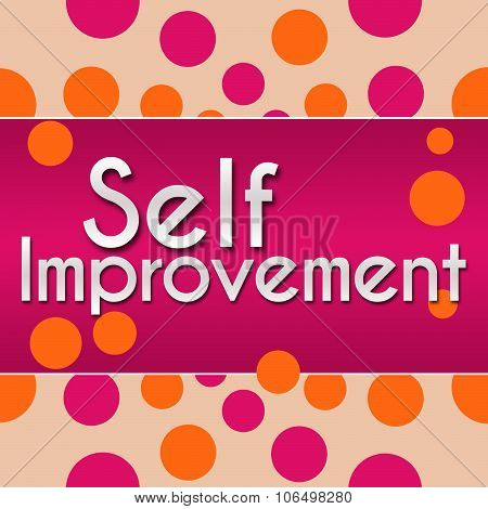 Self Improvement Pink With Orange Dots