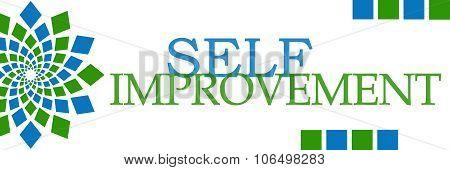 Self Improvement Green Blue Elements