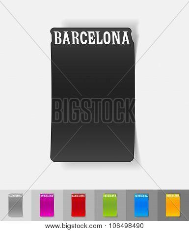 realistic design element. Barcelona