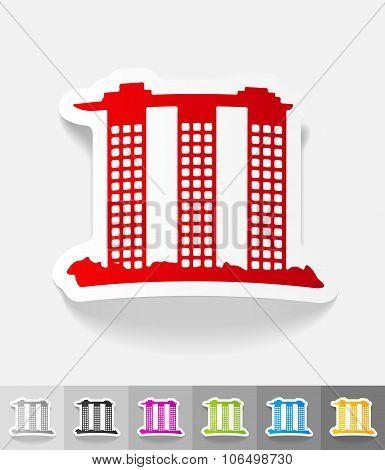 realistic design element. singapore building