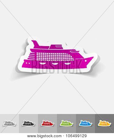realistic design element. cruise ship