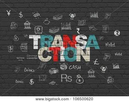 Money concept: Transaction on wall background