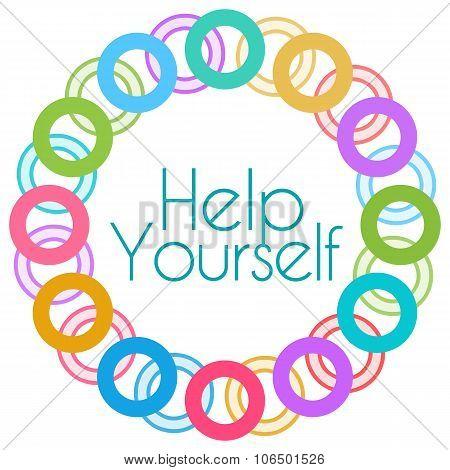 Help Yourself Colorful Rings Circular