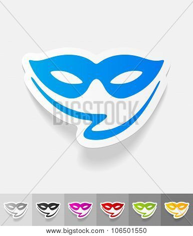 realistic design element. mask