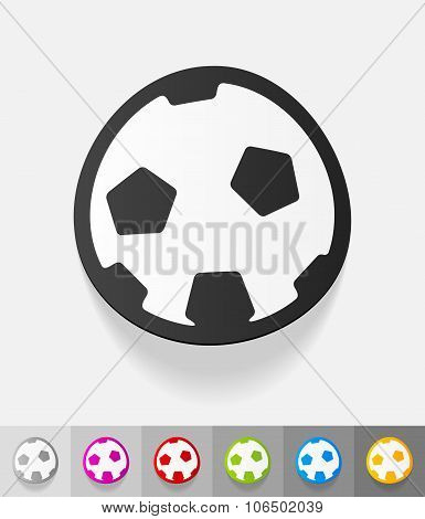 realistic design element. football