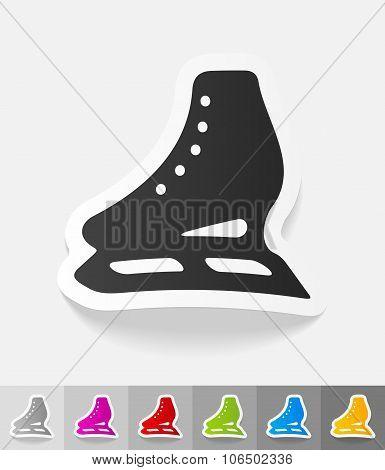 realistic design element. skates