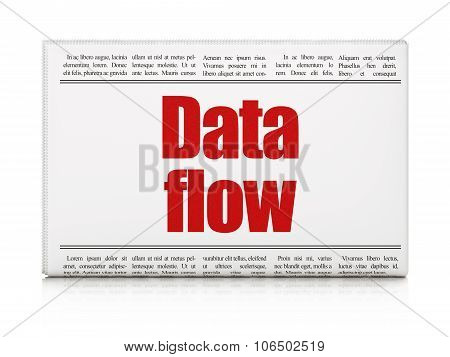 Data concept: newspaper headline Data Flow