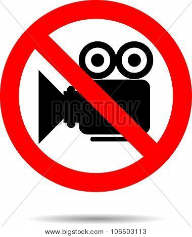 Ban Video Icon Sign