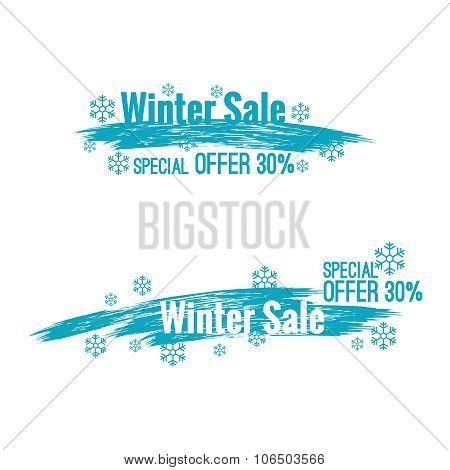 Banner winter sale