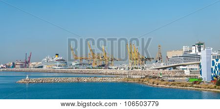 Industrial harbor of Barcelona