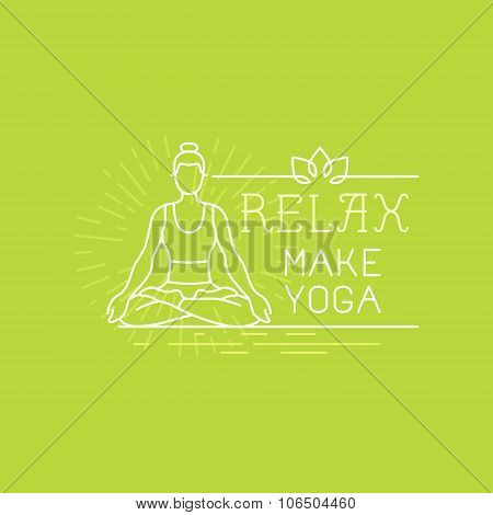 Vector Yoga And Sport Motivation Banner