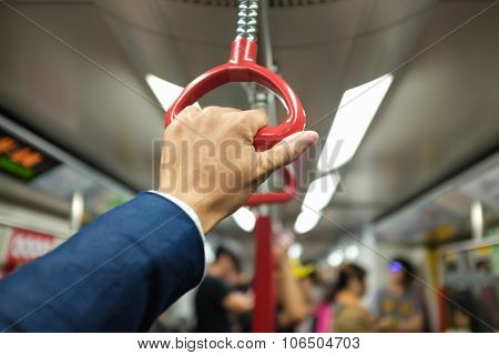 Business Hand Hold Bus Or Train Handle Bar
