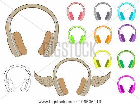 Clipart various earphones
