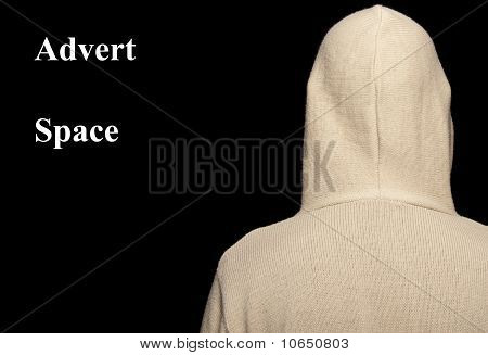 Capture Of Male With Hoodie On Black