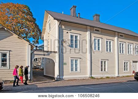 Porvoo. Finland. House of the poet johan Ludvig Runeberg