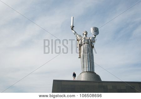 Mother Motherland Monument In Kiev, Ukraine