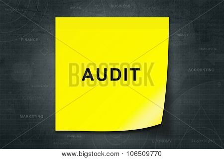 Audit Word On Yellow Note
