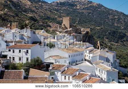 Olive Trees Surround Hilltown Of Zuheros In Andalucia
