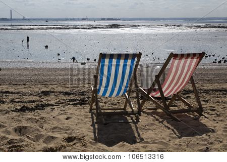 Deckchairs At Southend-on-sea, Essex, England