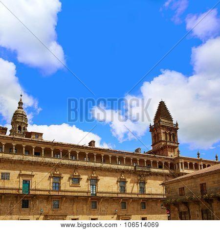 Santiago de Compostela Cathedral end of Saint James Way Plaza Obradoiro in Galicia Spain