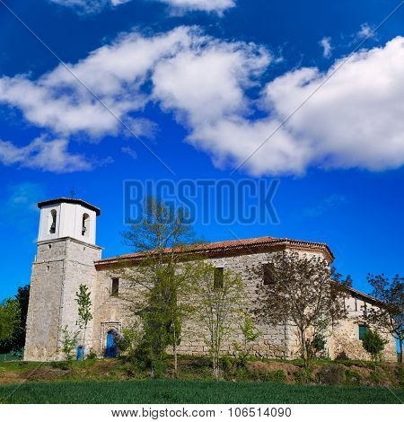 Villambistia church in Saint James Way by Castilla Burgos