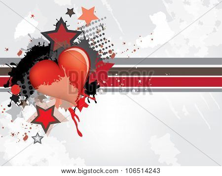 Gringe abstract background with hearts. Abstract vector illustration with background.