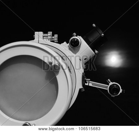 Black And White Astronomical Telescope