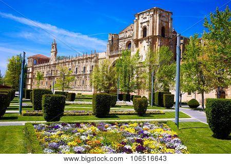 San Marcos in Leon at the way of Saint James Castilla Spain