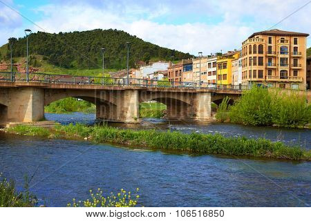 Najera bridge by The way of Saint James in La Rioja of Spain